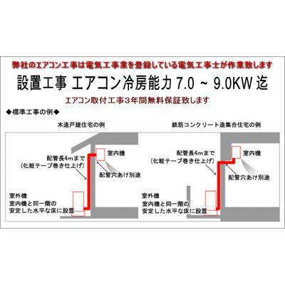 エアコン 冷房能力7.0~9.0KW迄21畳~29畳用地面置き標準 ...